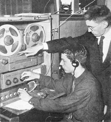 Fred Imm K8EVB at the controls to make a dub,