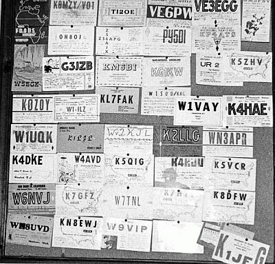 A wider view of Anzick's QSL collection